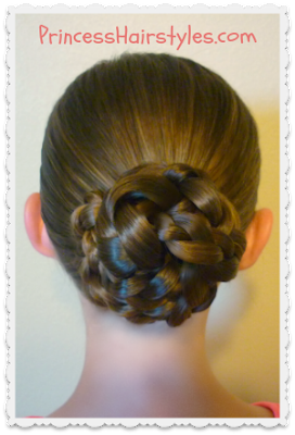 Easy Triple Braid Bun, Back To School Hairstyles