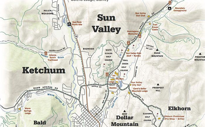 Sun Valley Idaho Map Sun Valley, ID: summer map | Sun valley, Sun valley resort, Valley
