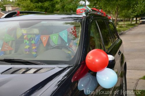 Surprise Your Child When They Hop In The Car On Their Birthday Decorate It