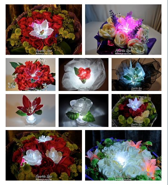 Sparkle Lites Fiber Optic Flower.  Add a little Sparkle……………..its illuminating.