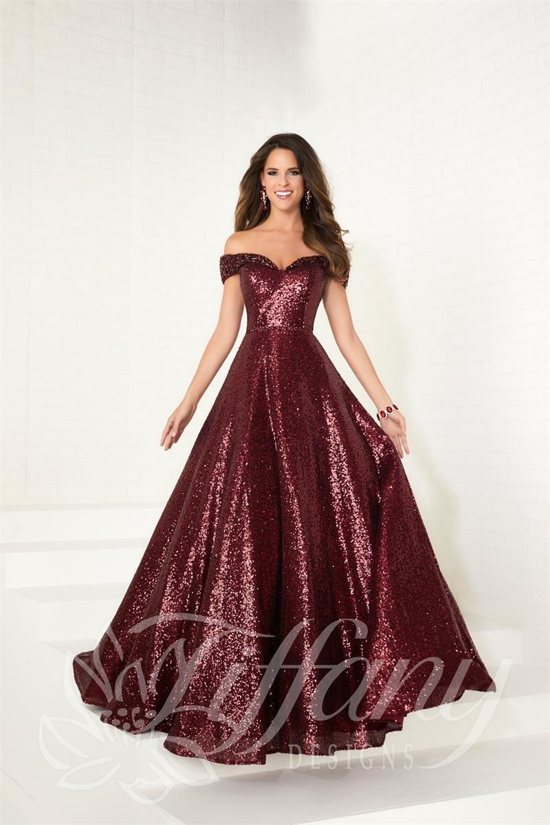 a48418934b85 Tiffany 16303 - Formal Approach Prom Dress A Line Prom Dresses, Sequin Prom  Dresses,