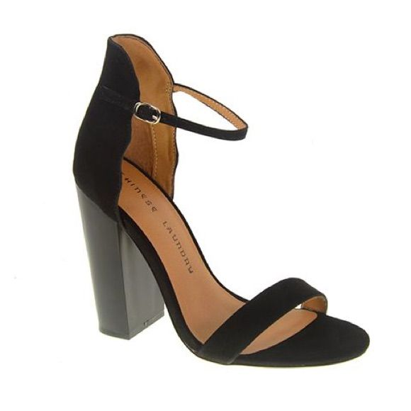 Chinese Laundry Black Heels Ankle Strap Chunky Heels Louboutin