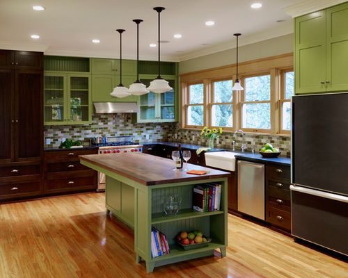 dark wood kitchen cabinets home design ideas pictures from Seattle ...