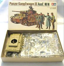 Tamiya Panzer Kampfwagen III Ausf  M/N German Tank Model Kit