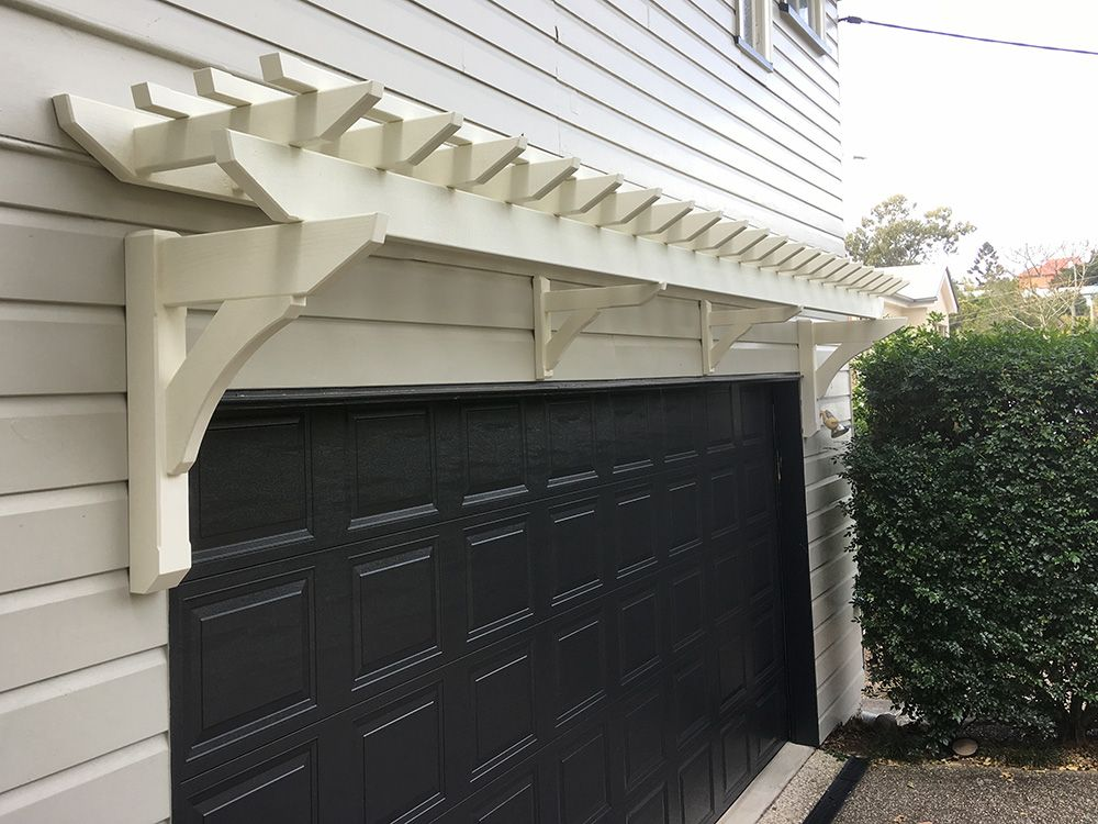 Eyebrow Garage Pergola | Pergola shade cover, Garage ...