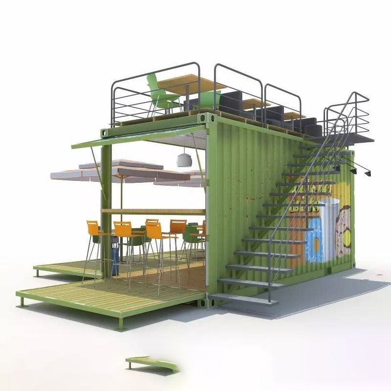 Source Hot Sell Modified Container Cafe Prefabricated Shop On M Alibaba Com In 2020 Container Cafe Pop Up Cafe Shipping Container Cafe