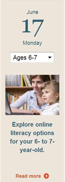 Click for information on online games and activities that help strengthen your child's literacy skills.