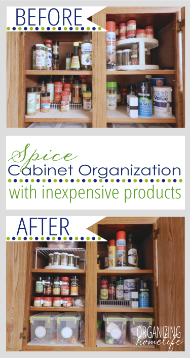 How To Organize Your Spice Cabinet Organize Your Kitchen Frugally Day 3 Organizing Homelife Spice Cabinet Organization Spice Cabinet Spice Organization