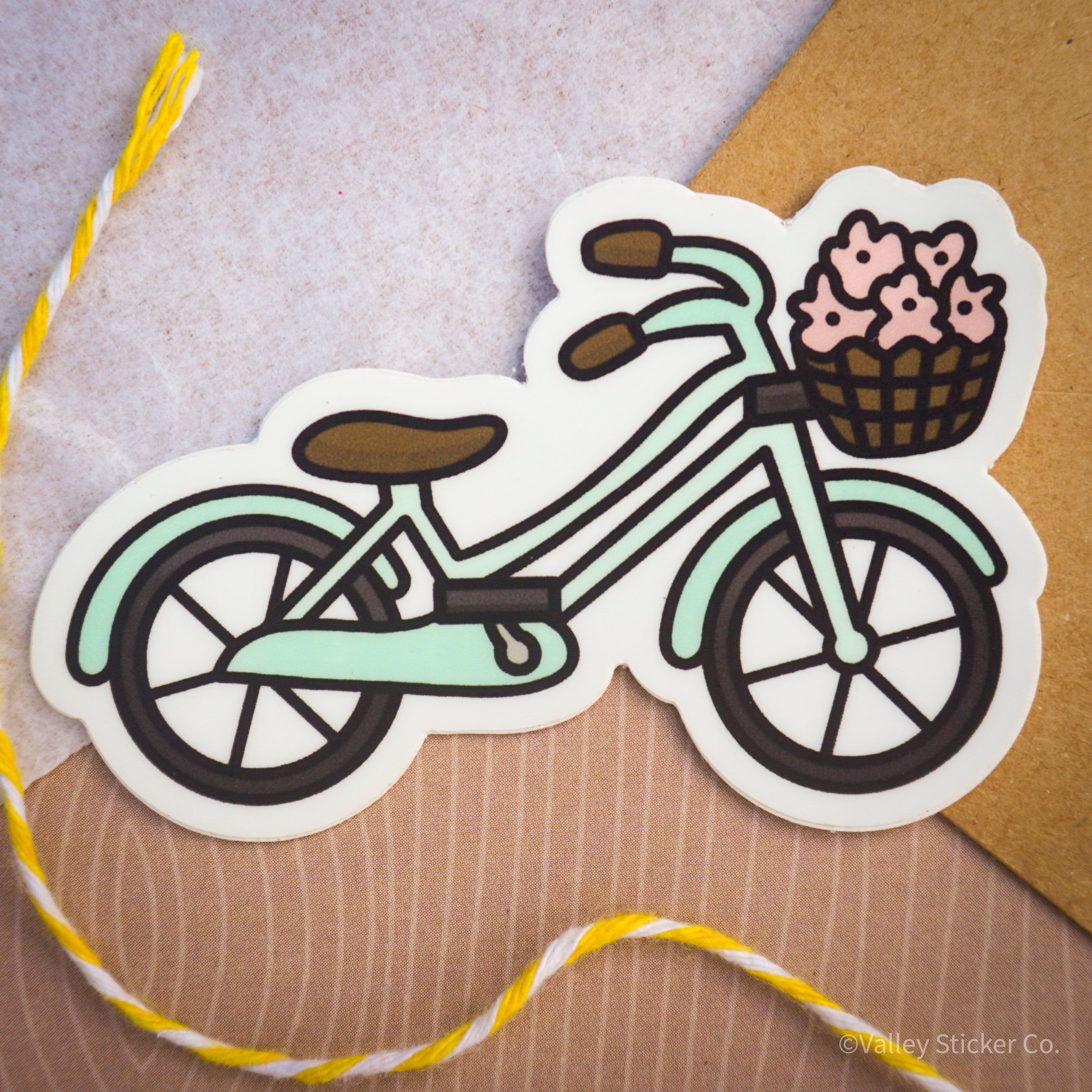 Cute Bike Vinyl Sticker Etsy In 2020 Vinyl Sticker Travel Stickers Cute Stickers