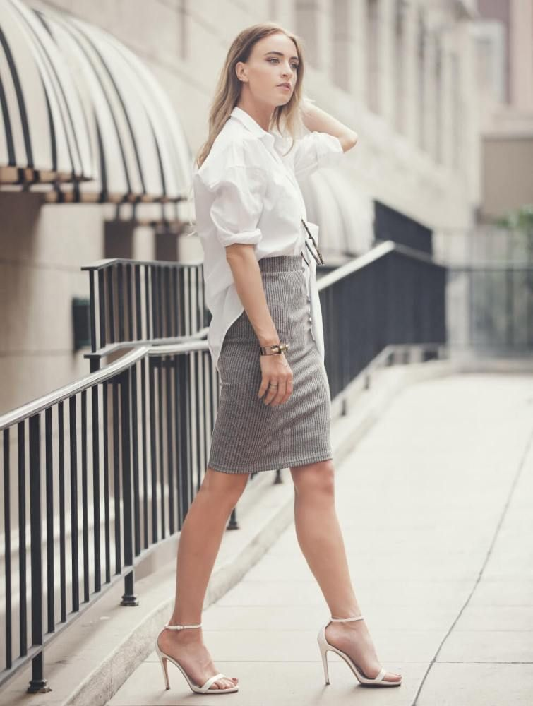button down shirt 2017 with pencil skirt 2017