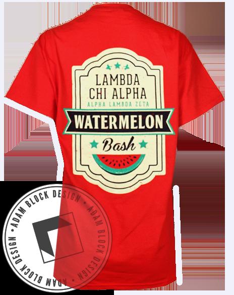 Lambda Chi Alpha Watermelon Pocket Tee by Adam Block Design | Custom Greek Apparel & Sorority Clothes | www.adamblockdesign.com