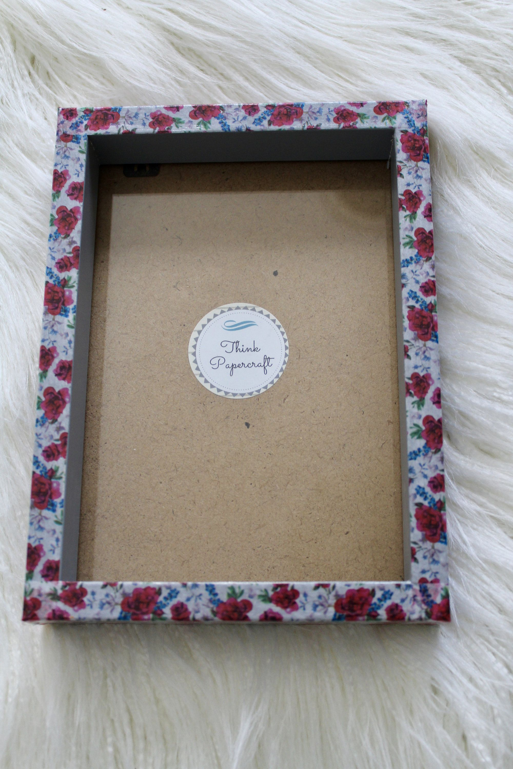 Red Flower Floral Decorated Photo Picture Frame 5x7 Inches 13x18 Cms Unique Mother S Day House Warming Birthday Or Gardener Gift Red Flowers House Warming Frame