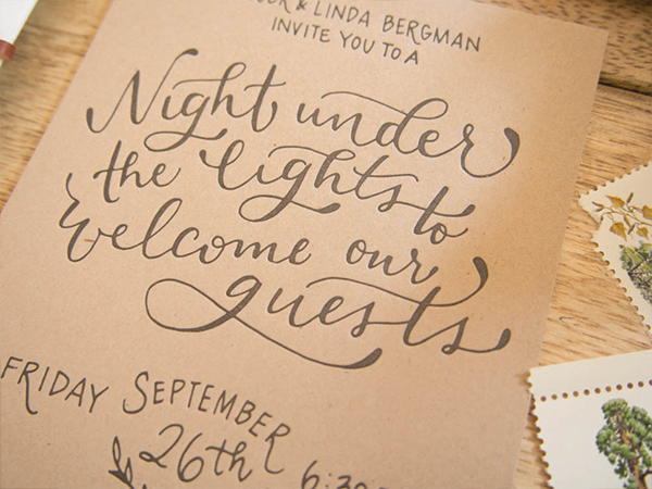 Oh So Beautiful Paper Adam Laurens Rustic Hand Lettered Wedding Invitations