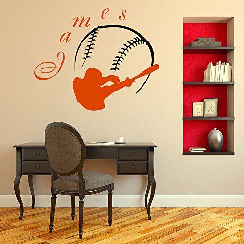 Wall Decal Vinyl Sticker Sports Baseball Ballplayer Player Ball - Sporting wall decals
