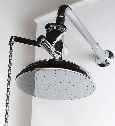 Pull Chain Shower Head Outdoor Shower