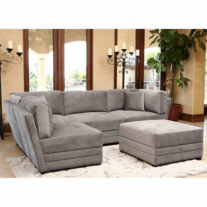 Excellent Leyla 5 Piece Fabric Modular Sectional Taupe Gray In 2019 Theyellowbook Wood Chair Design Ideas Theyellowbookinfo