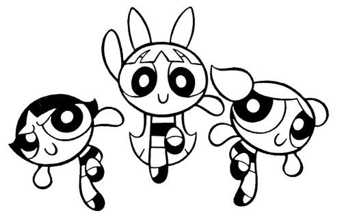 Powerpuff Girls Excited Coloring