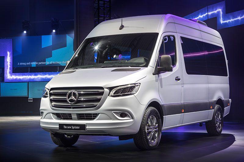 Mercedes Unveils 2019 Sprinter Commercial Van Mercedes Sprinter Sprinter Mercedes Van