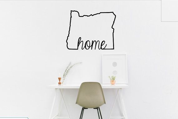 Home State Vinyl Decal by DesignsByBryn on Etsy
