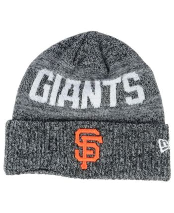 04d928d40 New Era San Francisco Giants Crisp Color Cuff Knit Hat - Black Adjustable