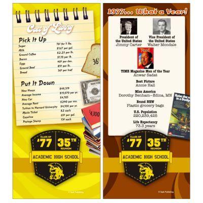Class Reunion Decorations Class of 1977 - 35th Class Reunion - graduation programs