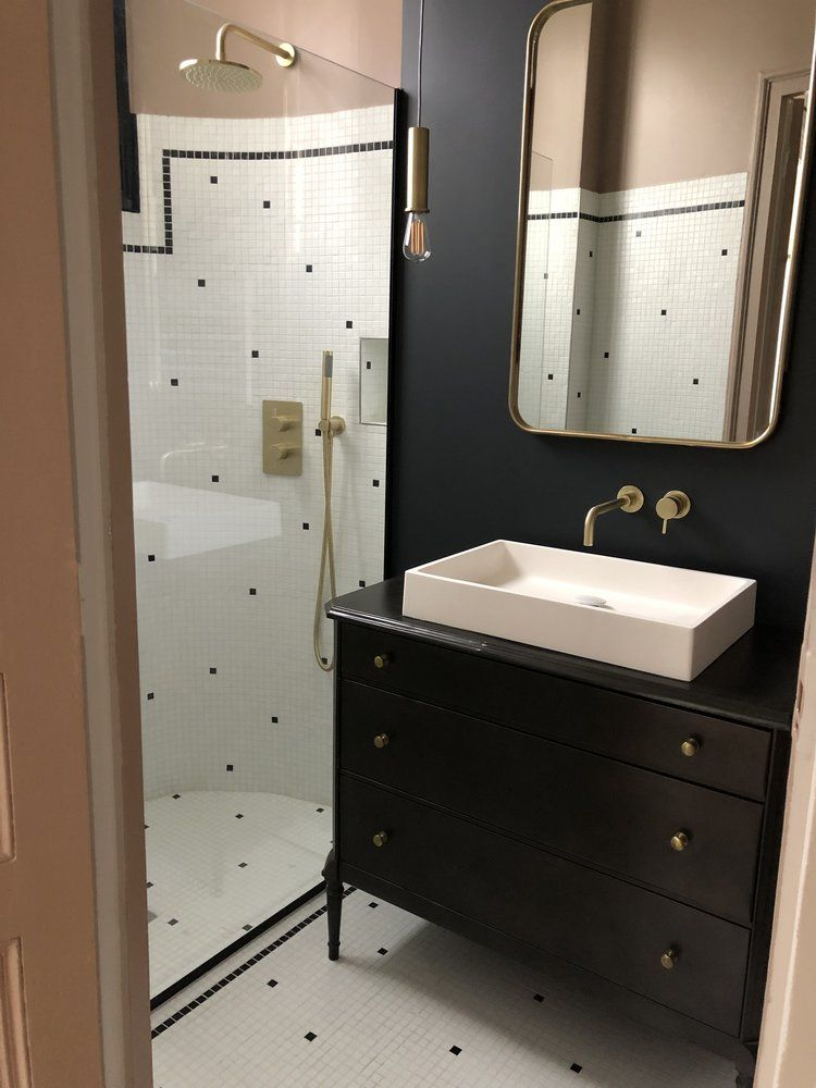 Epingle Par Lada N Sur Bathroom Idee Salle De Bain Idees Salle De Bain Salle De Bain Art Deco