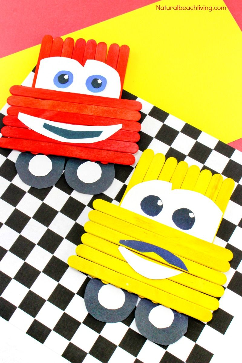 Disney Pixar Cars Popsicle Stick Crafts For Kids Party Ideas
