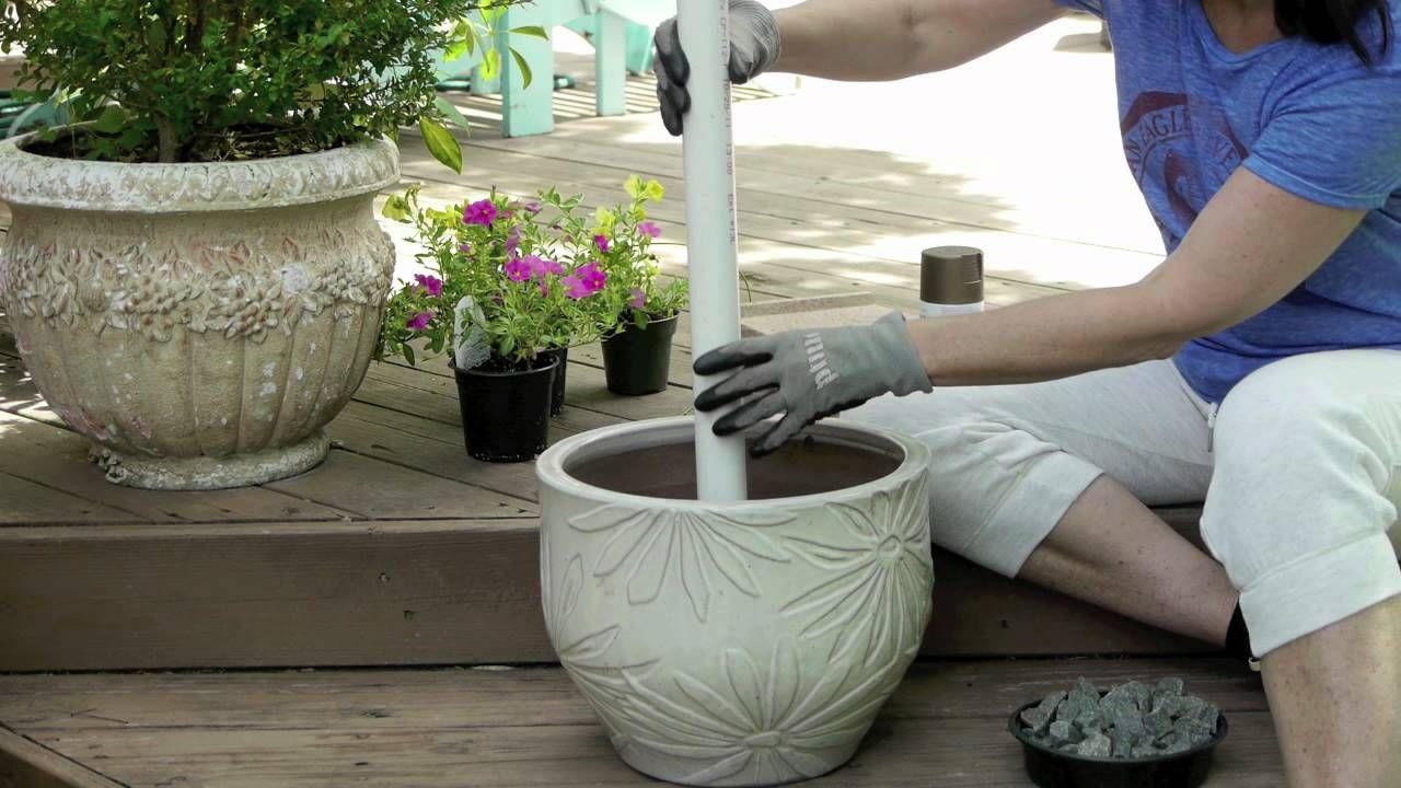 How To Make An Outdoor Umbrella Stand Garden Pinterest