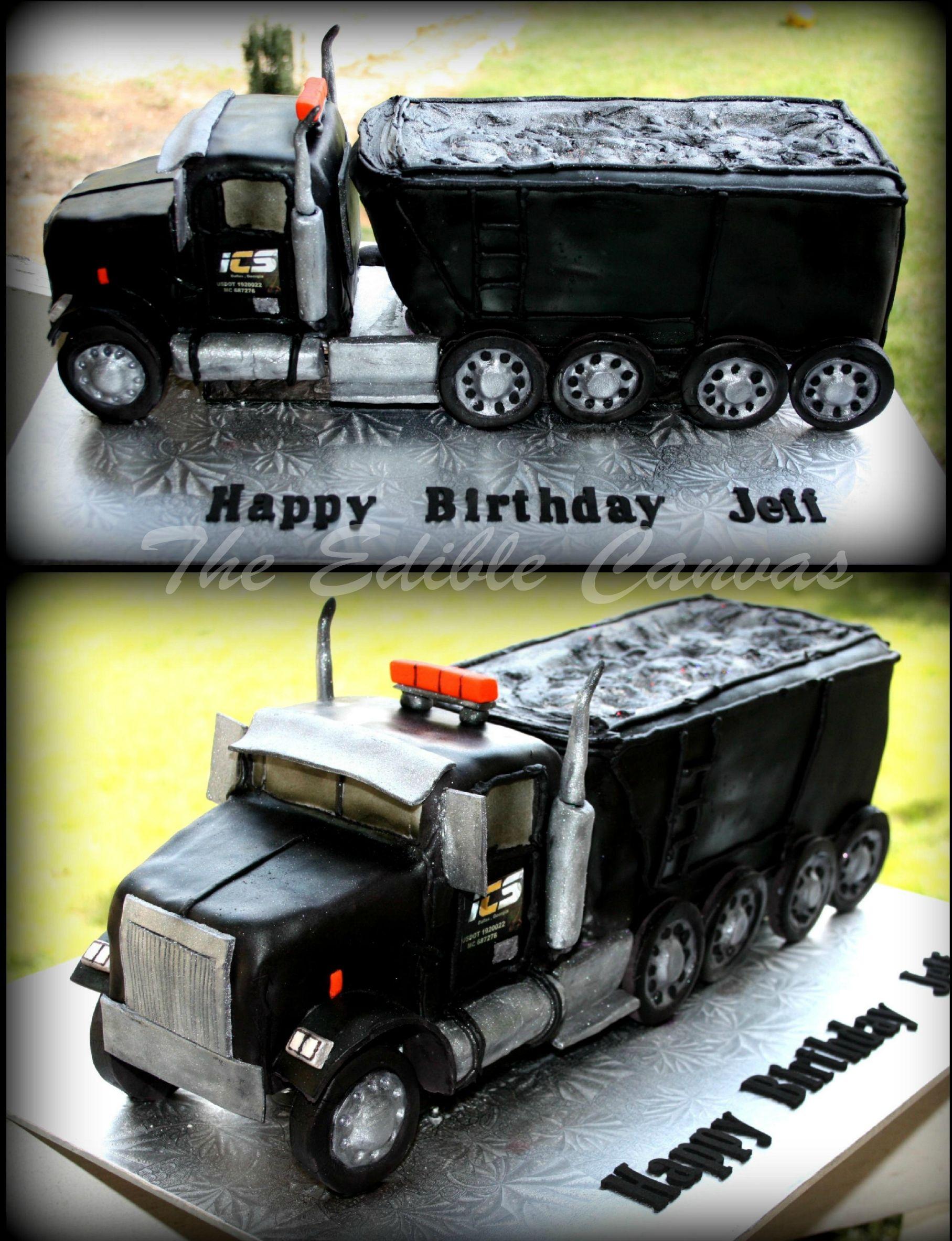 Custom Tractor Trailer Semi Truck Cake