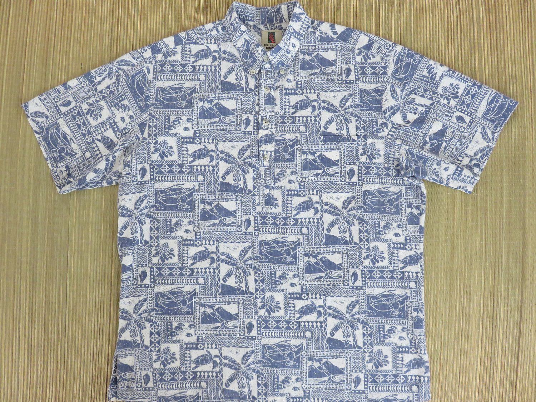 Mens Vintage Hawaiian Shirt 80s TORI RICHARD Aloha Tribal ...