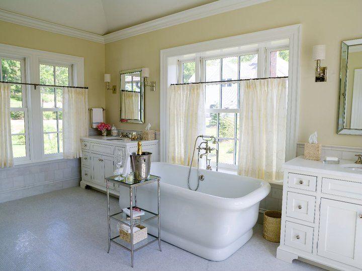Tub In Front Of Window Traditional Bathroom Alisberg