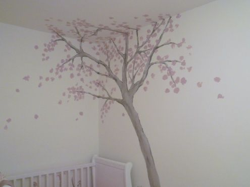 Mädchenzimmer Louise Babies, Wallpaper stickers and Romantic room