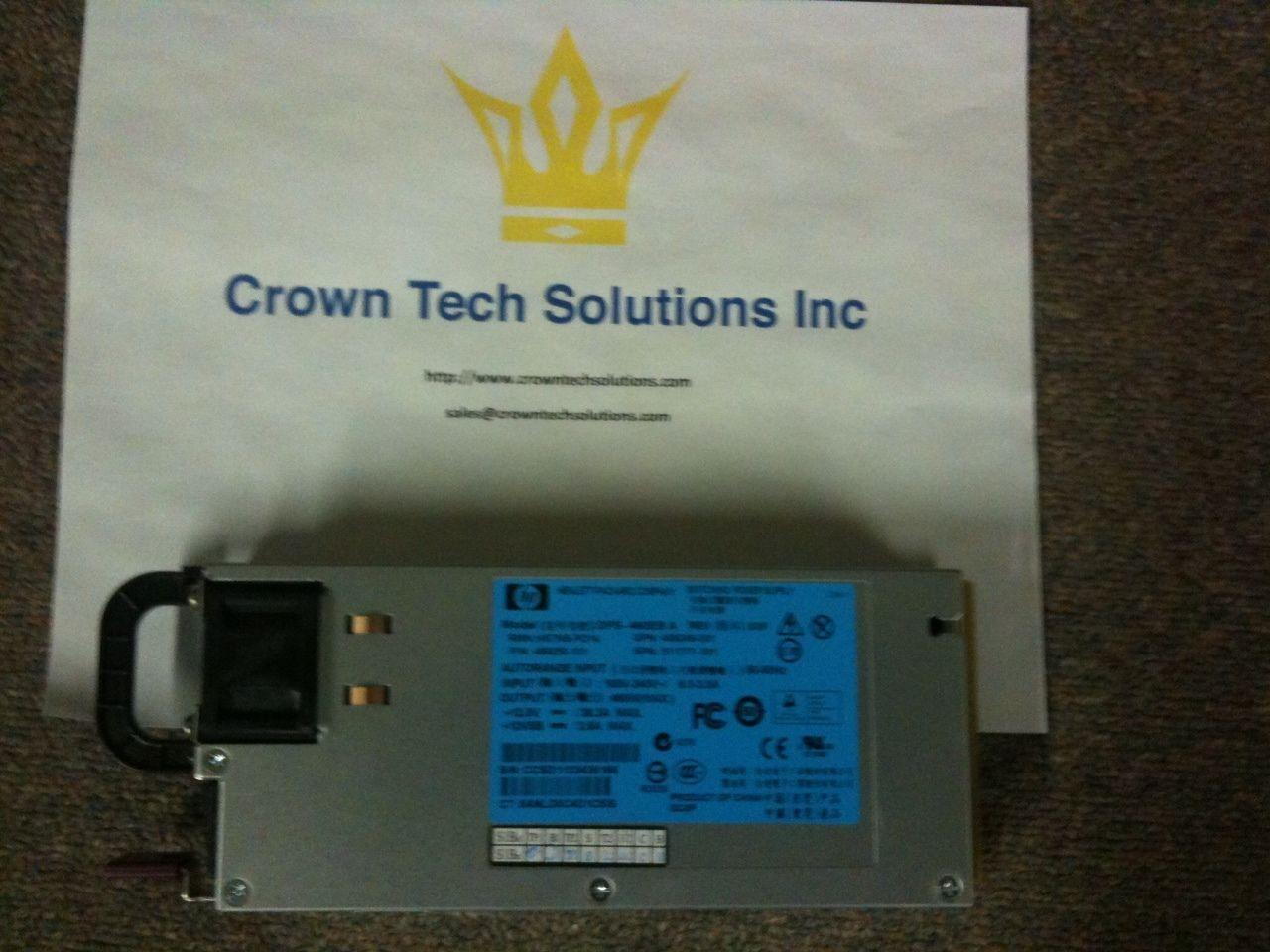 HP 503296-B21 511777-001 499250-001 460W HE Hot-Plug Power Supply G6 G7