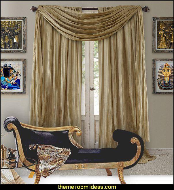 Athena Curtain Set Egyptian Theme Bedrooms