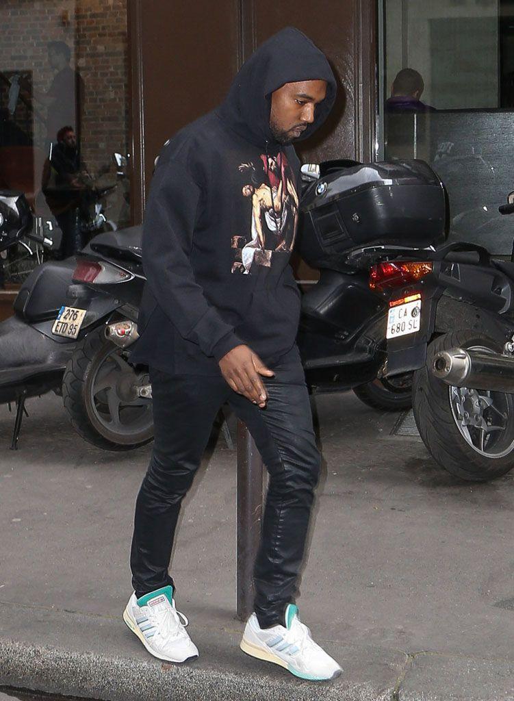 Kanye West Wearing Adidas Tubular