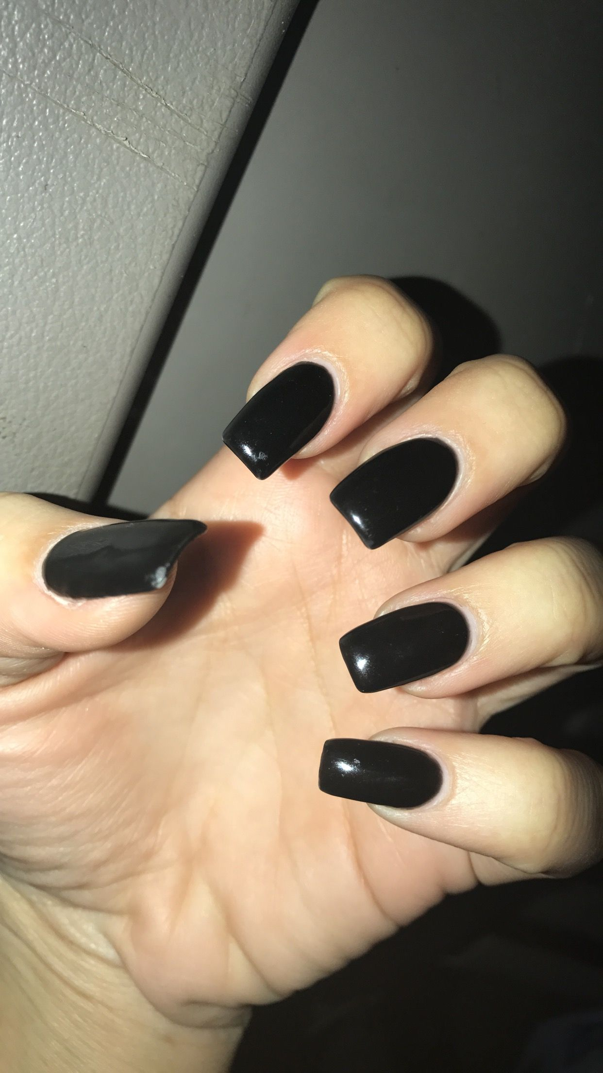 Black Long Square Nails Acrylic Black Long Nails Gel Nails Sister Tattoo Black On Black Curved Nails Long Square Nails Square Acrylic Nails