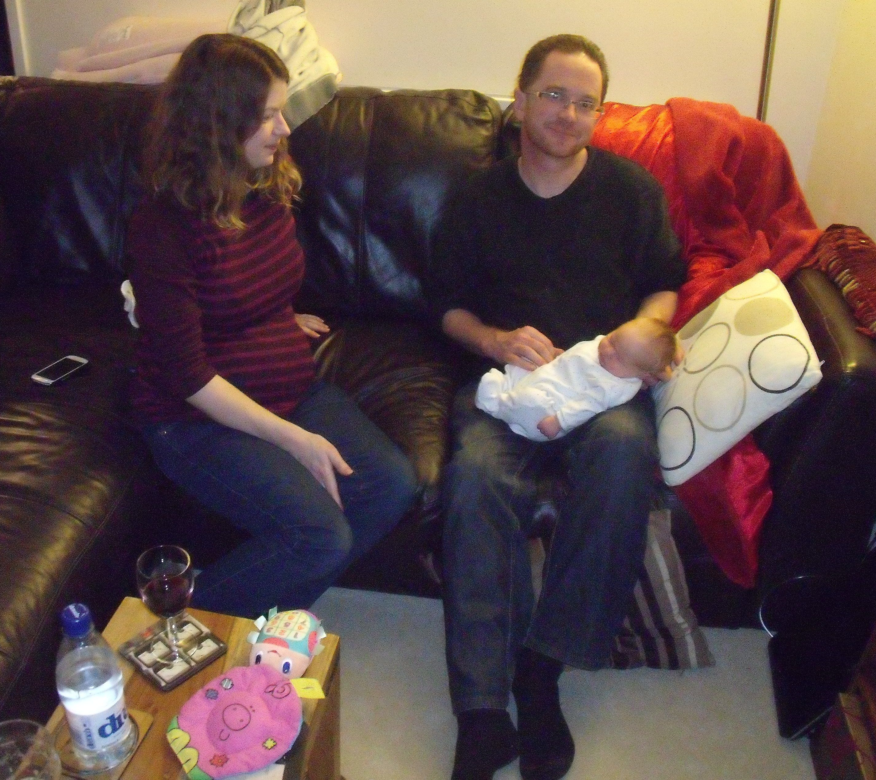 Me, my sister and my new niece. :-)