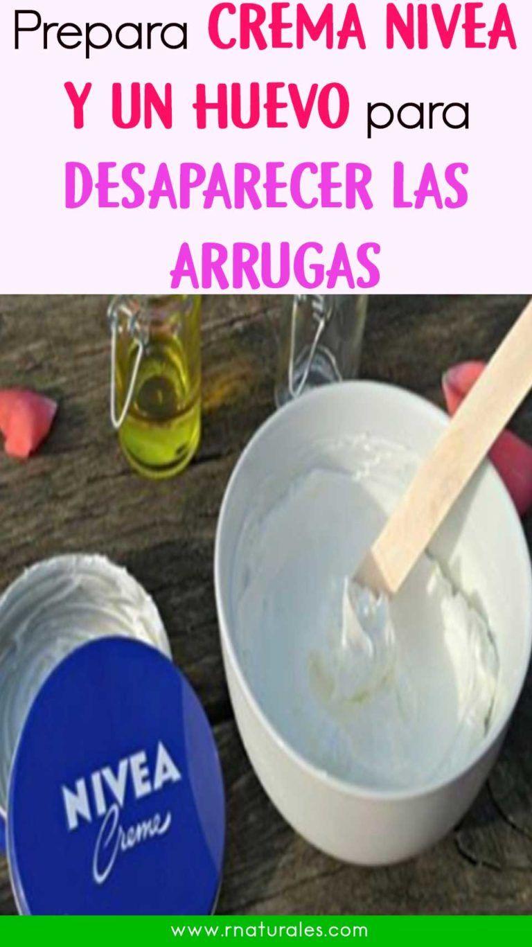 Crema nívea y un huevo para desaparecer las arrugas del rostro