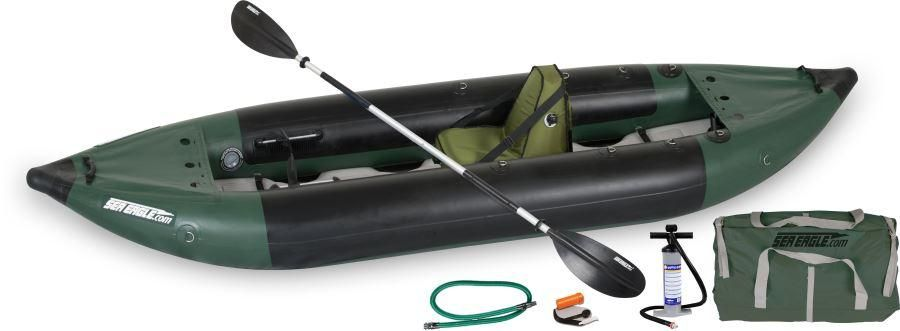 Sea Eagle 350fx 1-Person Explorer Inflatable Fishing Kayak - Deluxe Solo Package