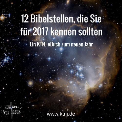 Das kostenlose KTNJ eBook mit 12 Bibelstellen für 2017