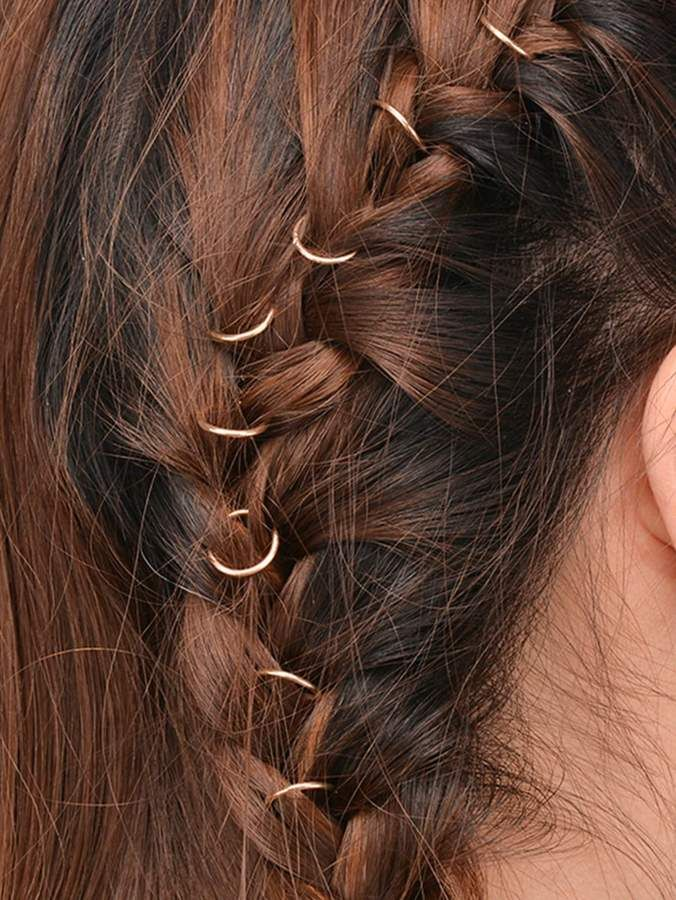 ae969eb965 Shein Simple Hair Ring Set 10pcs in 2019 | Products | Hair rings ...