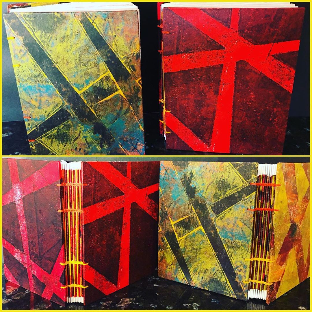 Artistbooks Ideas: Judith Thompson On Instagram: Books Covered In Gelli