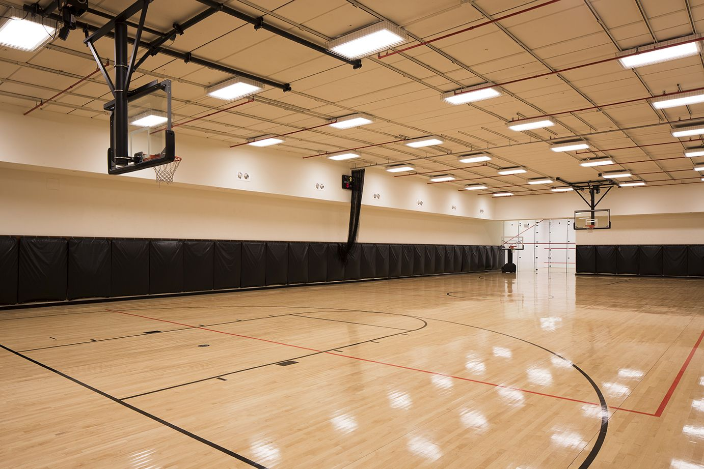 Full size indoor basketball court the ashley pinterest for Home indoor basketball court cost