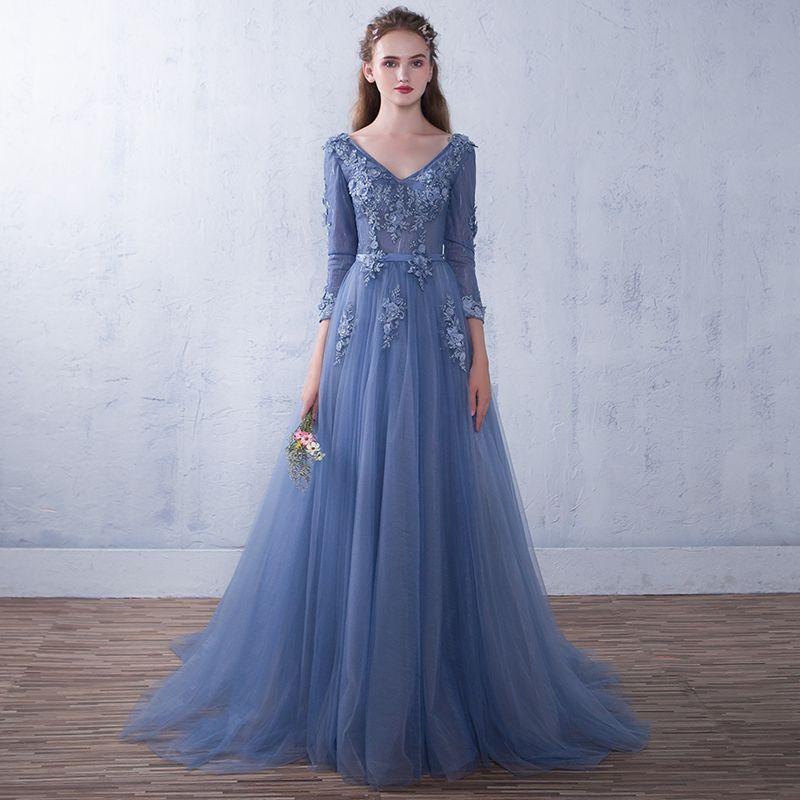 cheap full length prom dress