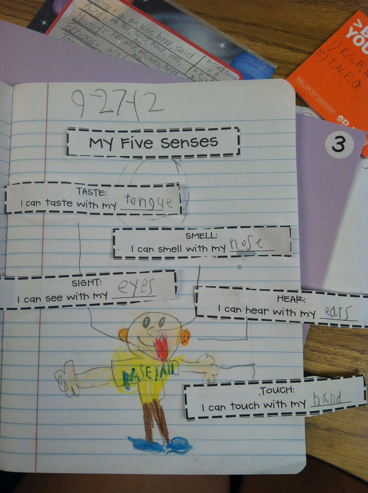 Five Senses Journal Page