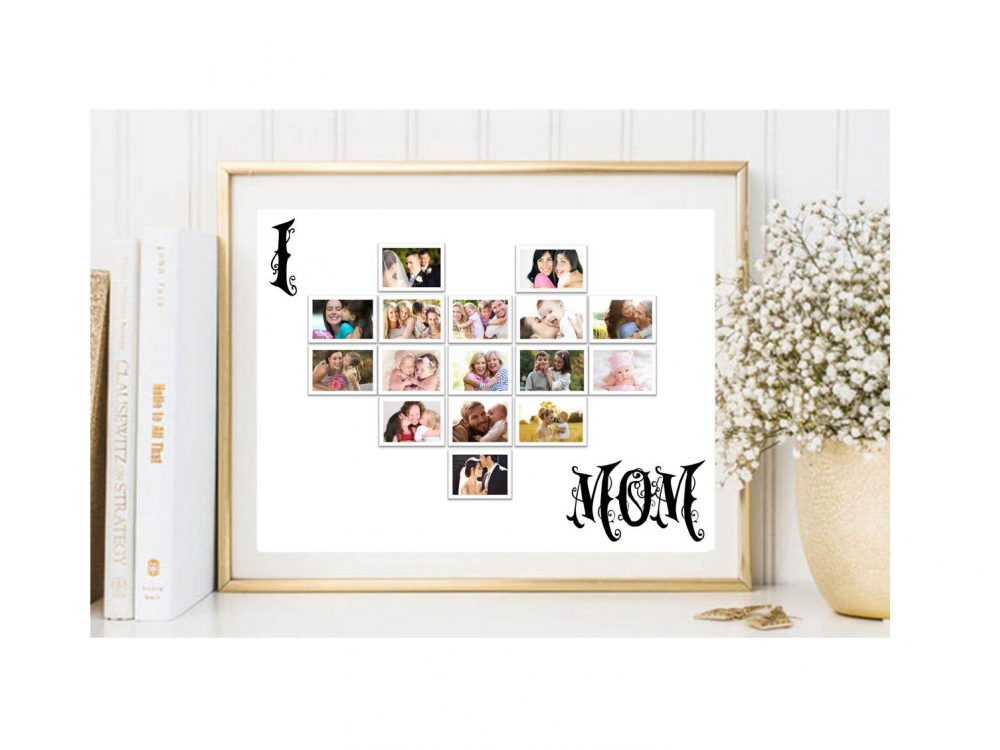 Home :: Gifts :: By Category :: Jikjikoo Personalised Gifts :: Personalized I Heart Mom/Dad Framed Print
