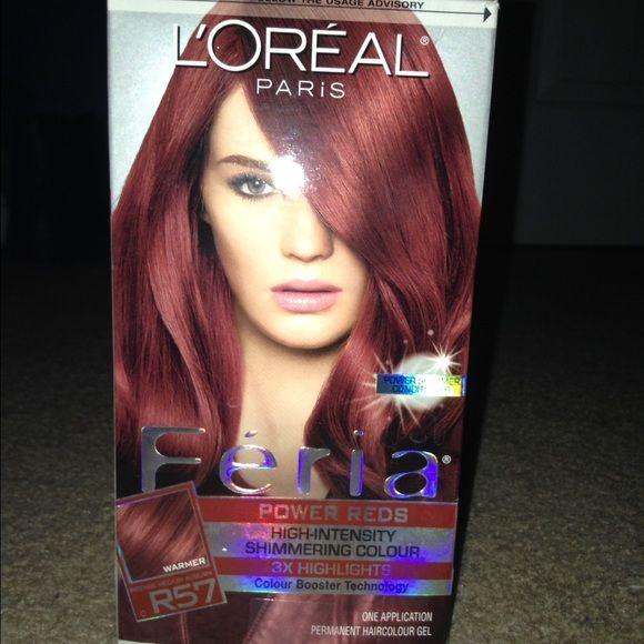 Red Auburn Hair Dye Loreal Unopened Brand New Box Never Used Loreal Makeup Auburn Hair Dye Box Hair Dye Auburn Hair