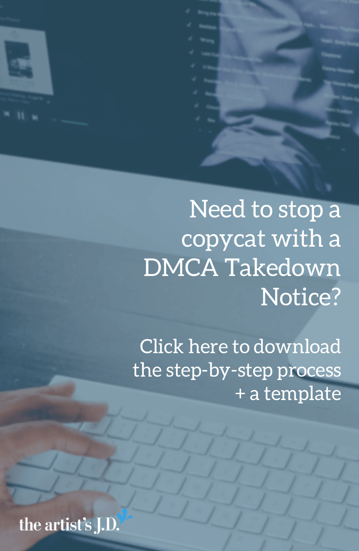 Use a DMCA Takedown Notice to stop a copycat | Template