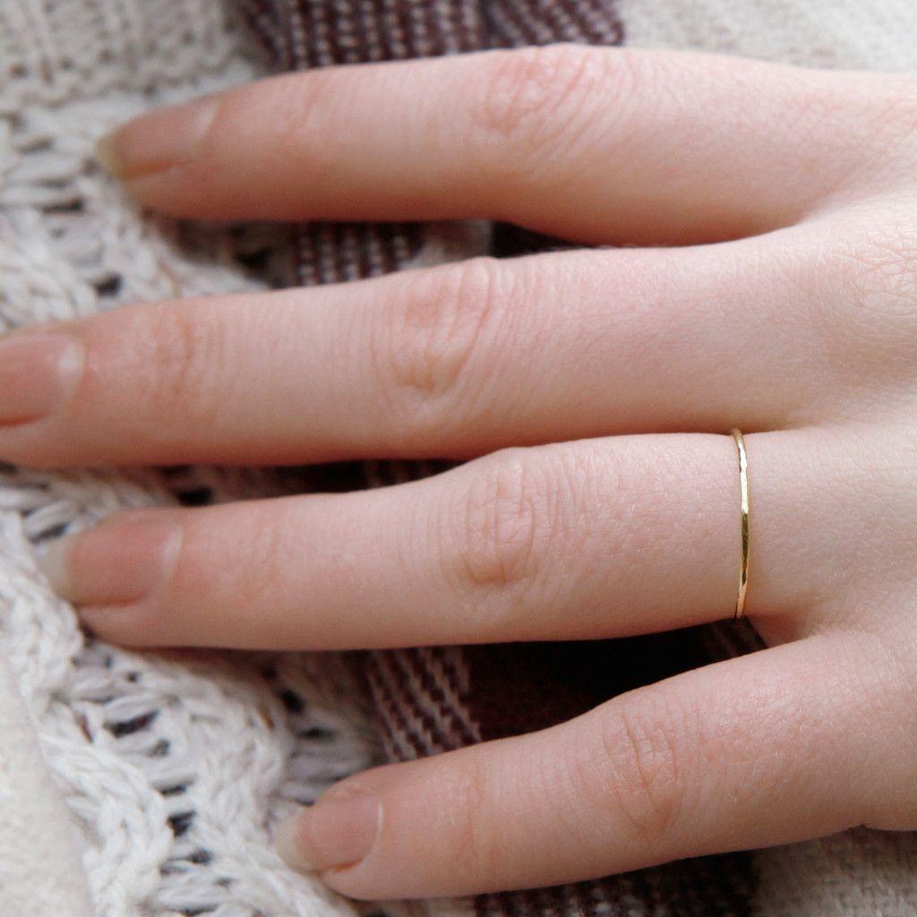 Skinny band ring - 18ct yellow gold | Band rings, Skinny and Skinny ...