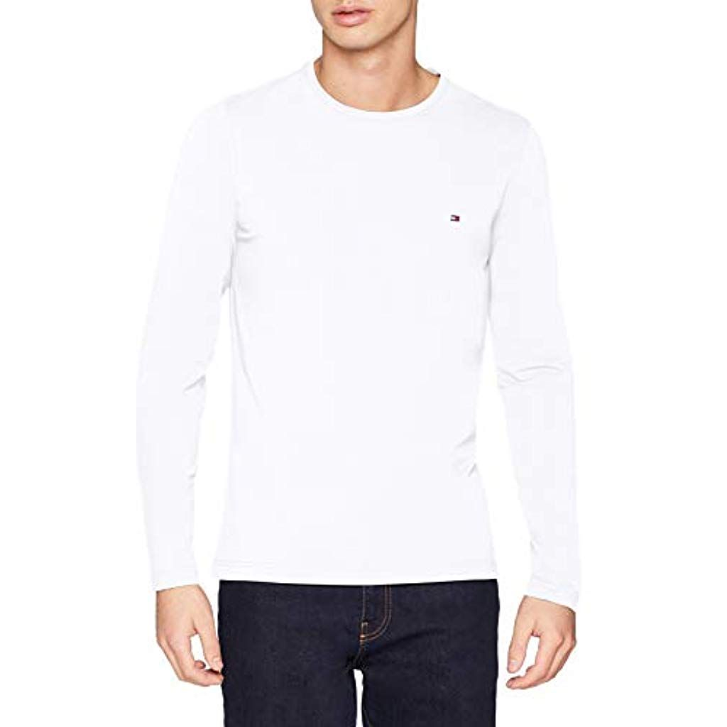 TOMMY HILFIGER Stretch Slim Fit Long Sleeve Tee Camicia Sportiva Uomo
